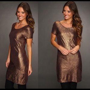 Free People Metallic Bronze Dress